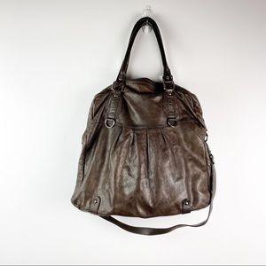 Nordstrom Brown Leather Large Tote Bag